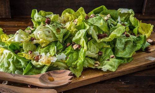Smoked Honey Vinaigrette and Hazelnut Salad
