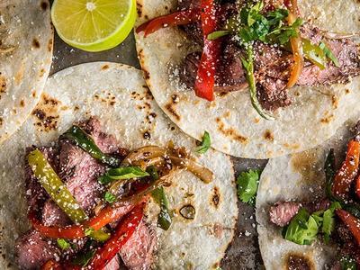 Grilled Flat Iron Steak Fajitas Recipe