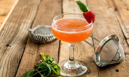 Strawberry Basil Daiquiri