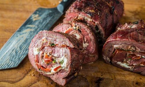 Grilled Stuffed Flank Steak