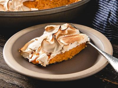 Baked Sweet Potato Casserole with Marshmallow Fluff Recipe