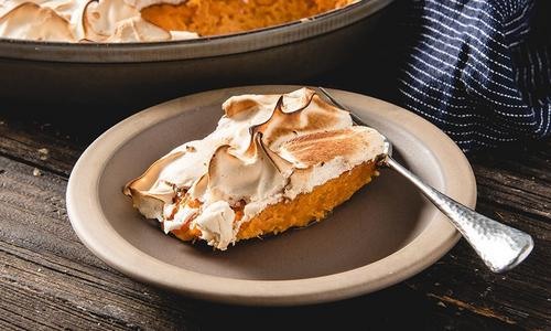 Baked Sweet Potato Casserole with Marshmallow Fluff