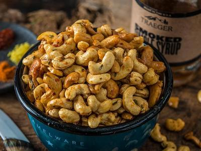 Smoked Sweet & Spicy Cashews Recipe