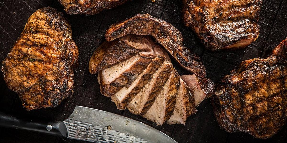 bbq pork chops on a traeger Grilled Thick Cut Pork Chops Recipe  Traeger Grills