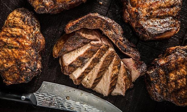 cut pork chops on traeger grill Grilled Thick Cut Pork Chops Recipe  Traeger Grills