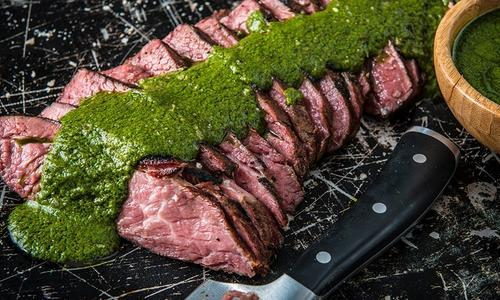 Reverse Seared Tri-Tip with Chimichurri Sauce