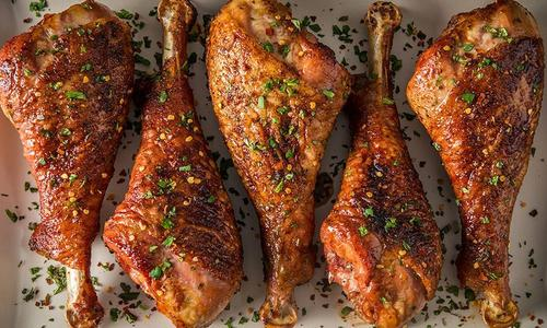 Smoked Turkey Legs With Brown Butter And Bourbon Glaze