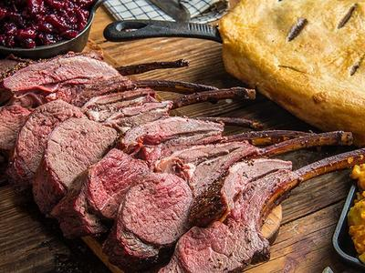 Roasted Rack of Venison with Cranberry Sauce Recipe