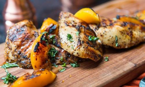 Peach & Basil Grilled Chicken Recipe