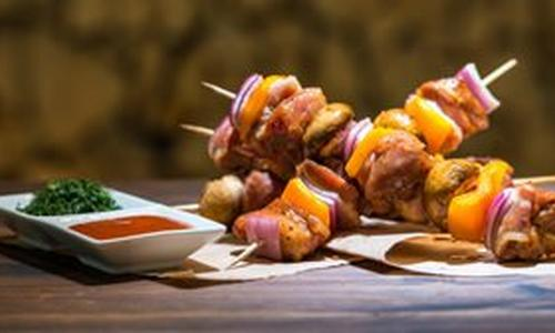 Bacon Lover's Pork Kebabs