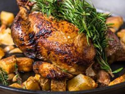 Roast Chicken & Pimenton Potatoes Recipe