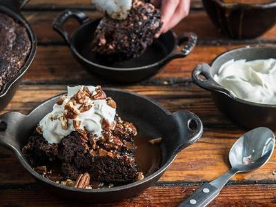 Baked Caramel Pecan Brownie