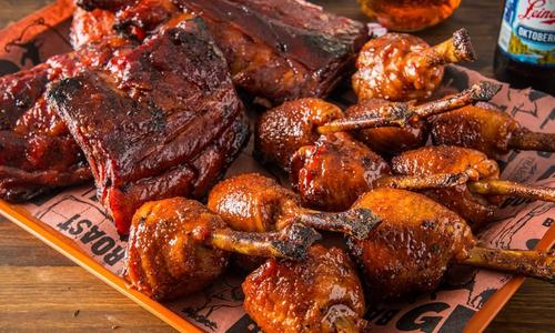 Smoked Chicken Lollipops with Champagne BBQ Sauce