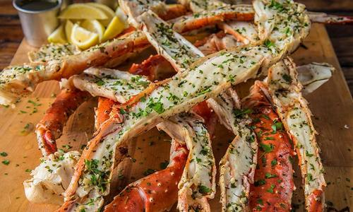 Grilled Crab Legs with Herb Butter