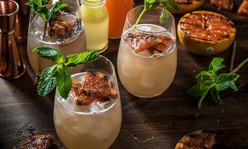 Grilled Grapefruit Buck Cocktail