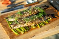 Grilled Rainbow Trout and Asparagus with Taite Pearson thumbnail