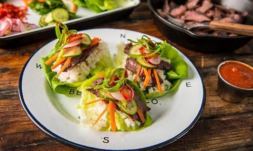 Grilled Venison Lettuce Wraps
