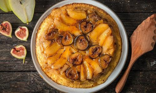 Baked Pear & Fig Upside Down Cake