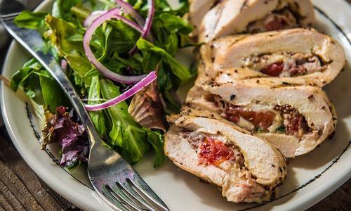 Roasted Prosciutto Stuffed Chicken