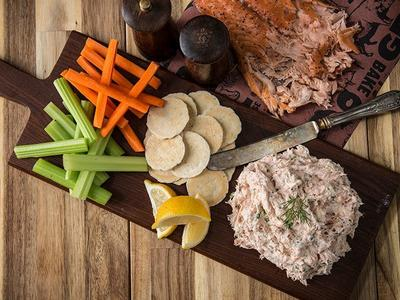 Smoked Salmon Veggie Dip Recipe