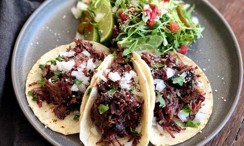 Smoked Beef Cheek Tacos