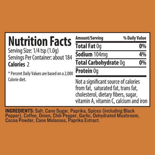 traeger-coffee-rub-nutrition-info