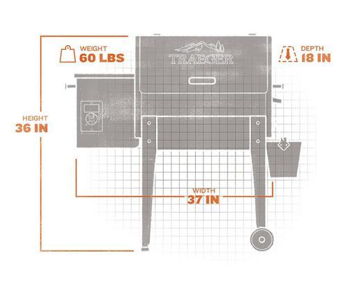 Traeger Junior 20 Pellet Grill with Arc Controller (Costco)extorior and interior views