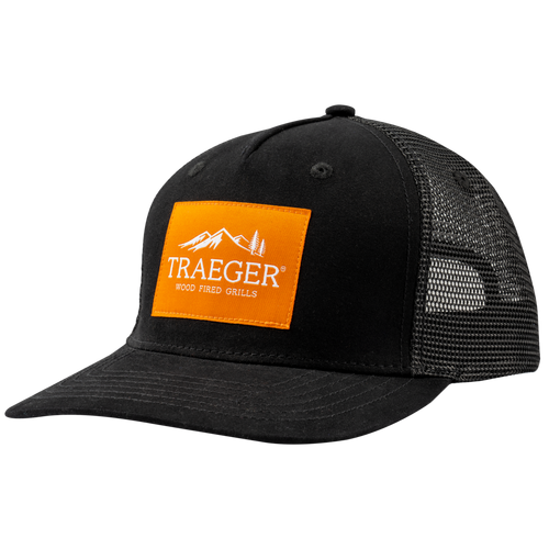 traeger-logo-curved-brim-hat-studio-angle