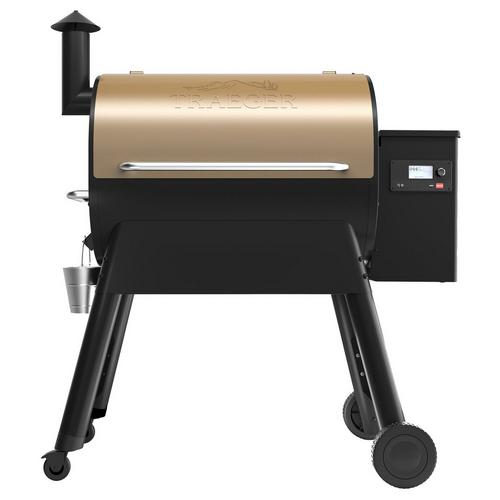 traeger-pro-series-780-pellet-grill-bronze-front-straight