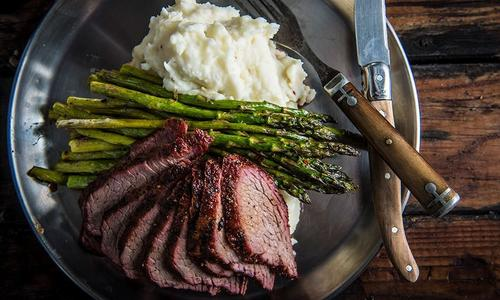Grilled Tri-Tip with Garlic Mashed Potatoes