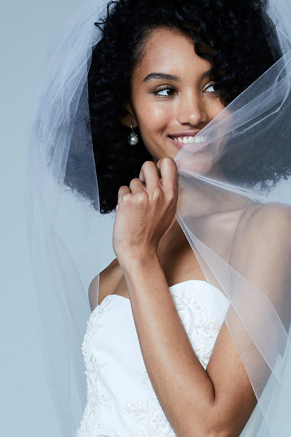 inexpensive tulle wedding veil