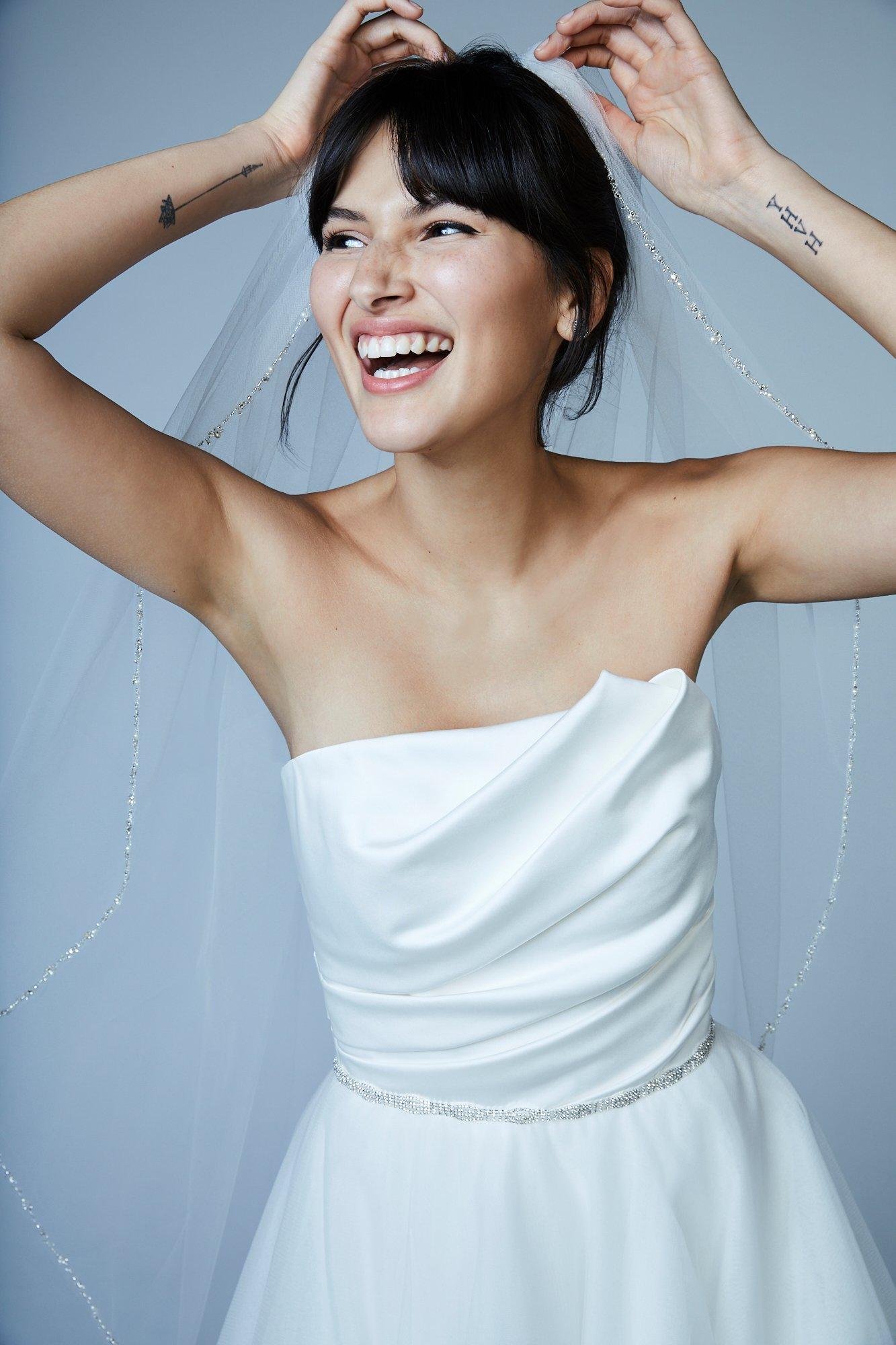 inexpensive tulle wedding veils