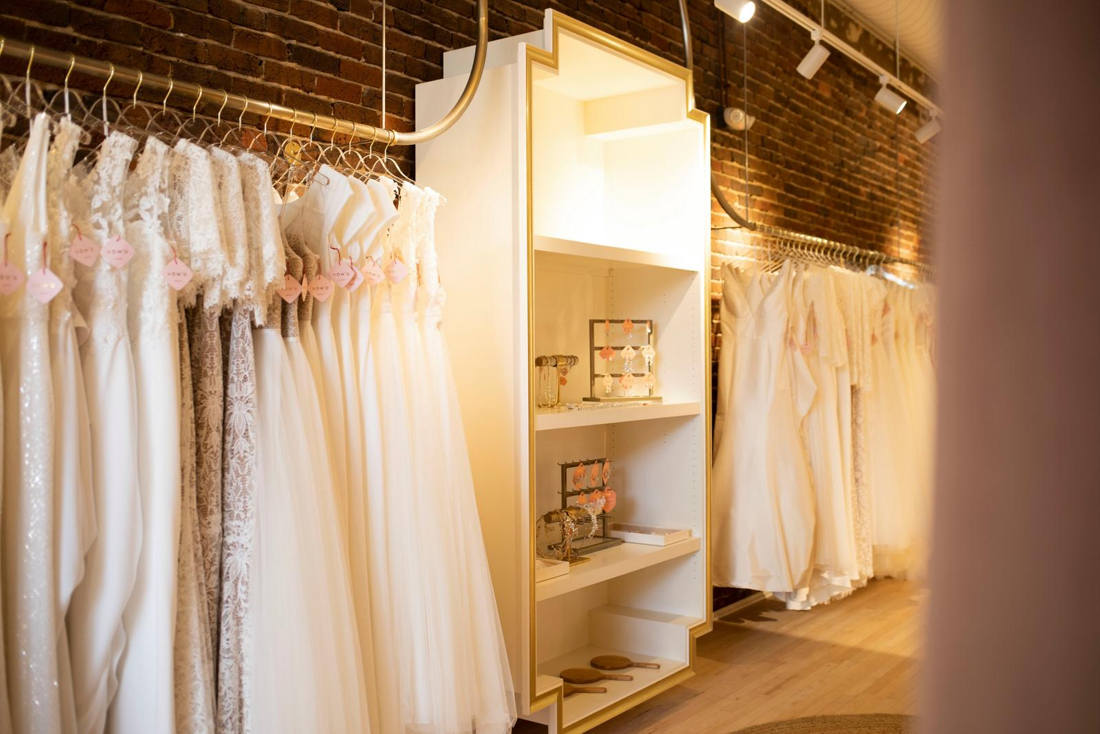 the wedding dress selection