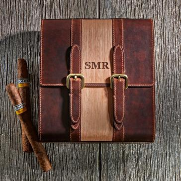 Travel Leather Cigar Humidor