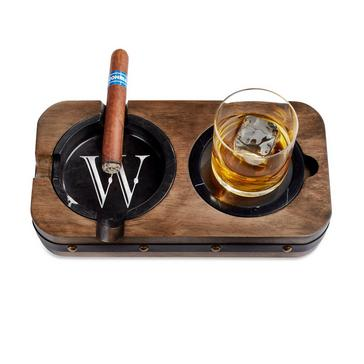 Single Barrel Whiskey Coaster and Ashtray