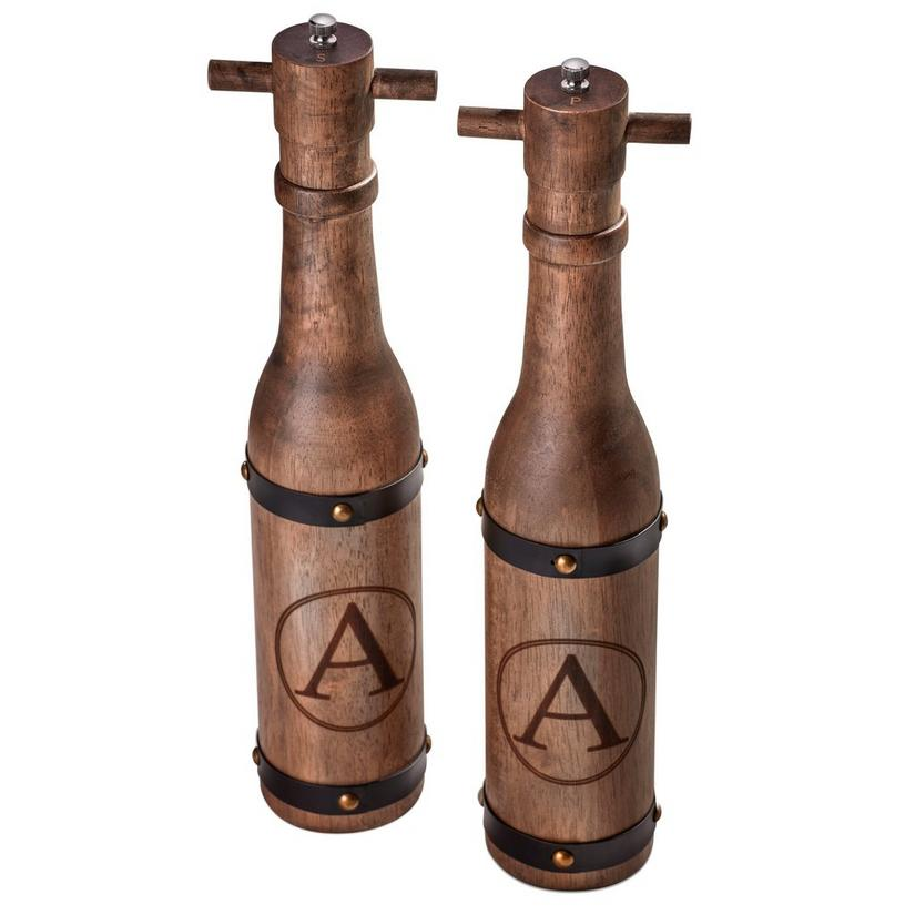 Wine Barrel Salt & Pepper Mill Set