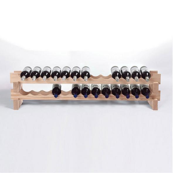 26 Bottle Stackable Wine Rack Kit (Natural)