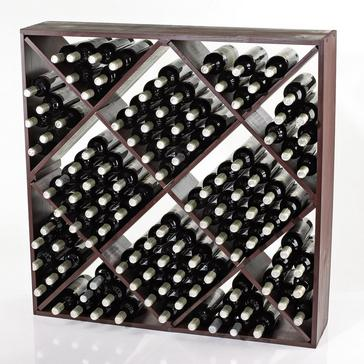 Jumbo Bin 120 Bottle Wine Rack (Mahogany)