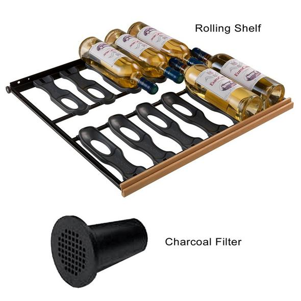 EuroCave Convenience Pack 12 Main du Sommelier Rolling Shelves & 2 Universal Charcoal Filters