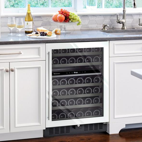 N'FINITY S Dual Zone Wine Cellar (Edge-To-Edge White Glass Door)