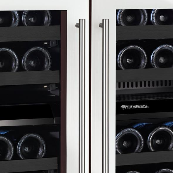 N'FINITY Double S Dual Zone Wine Cellar (Edge-To-Edge White Glass Door)