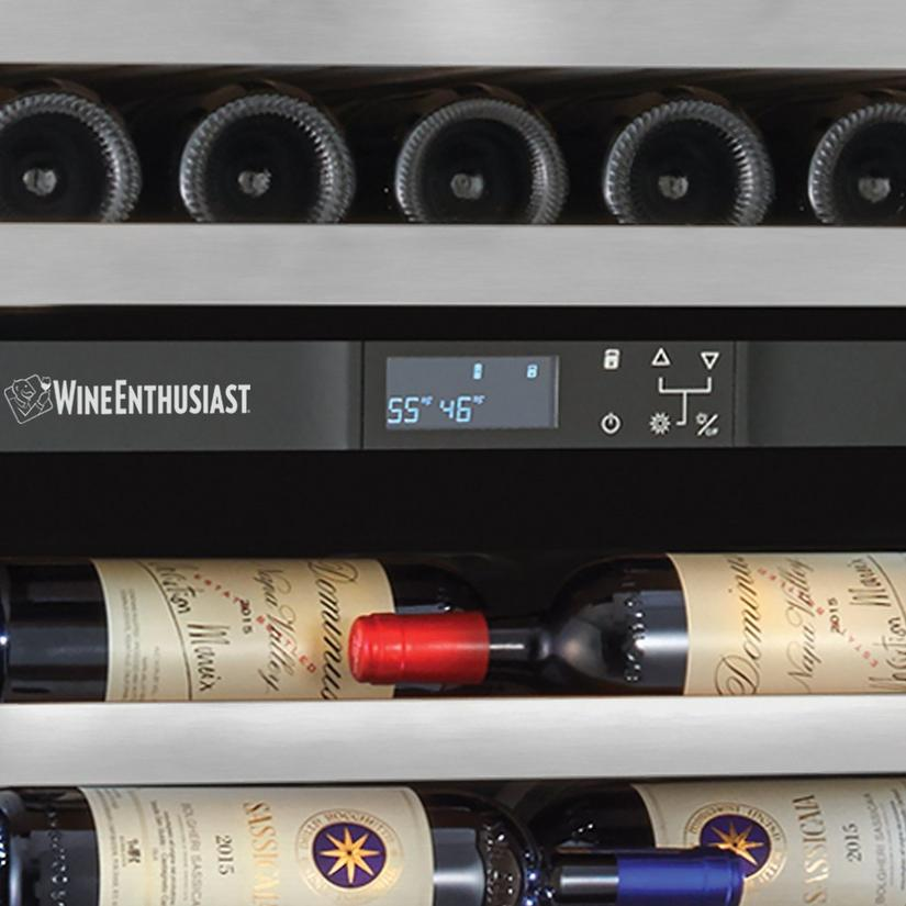 Vinothèque Café Dual Zone MAX Wine Cellar with Steady-Temp™ Cooling (Stainless Steel Door)