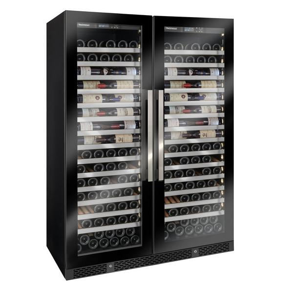Vinotheque Double Café Single Zone Wine Cellar with Steady Temp Cooling (Edge-To-Edge Glass Door)