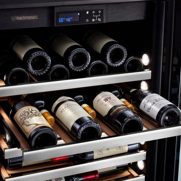 "Vinotheque Café Single Zone 22.5"" Counter-Depth Double Wine Cellar with Steady-Temp™ Cooling (Stainless Steel Door)"