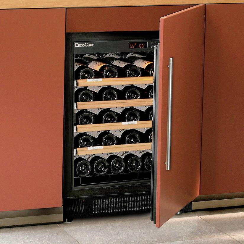 EuroCave Performance 59 Built-In Wine Cellar (Right Hinged Custom Panel Door)