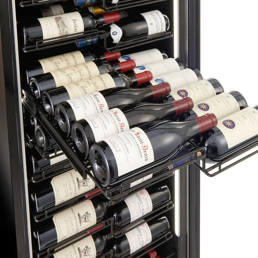 Wine Enthusiast VinoView 155-Bottle Wine Cellar (Stainless Steel Door)