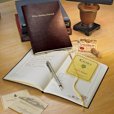 Bonded Leather Wine Tasting Journal