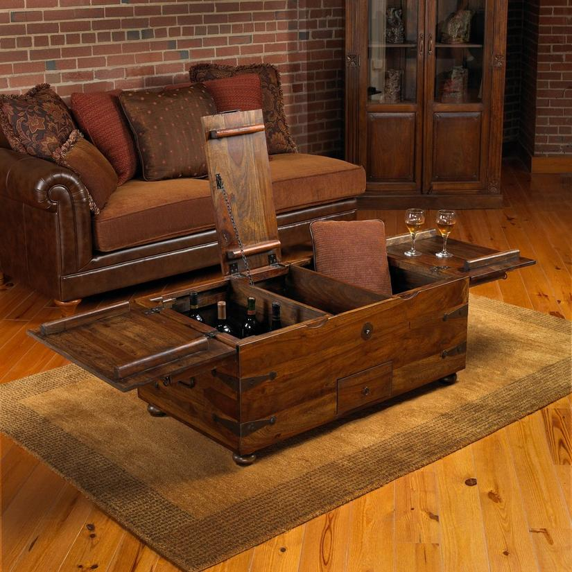 Thakat Bar Box Trunk Coffee Table