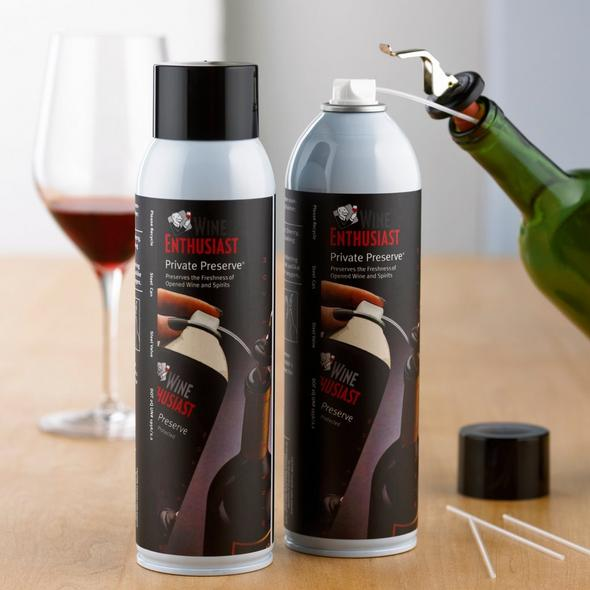 Wine Enthusiast Private Preserve Wine Preservation Spray (Set of 2)