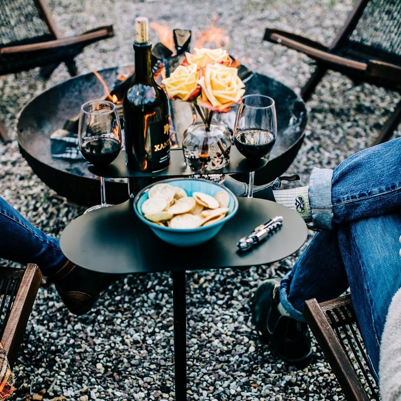 Outdoor Metal SideBar Table